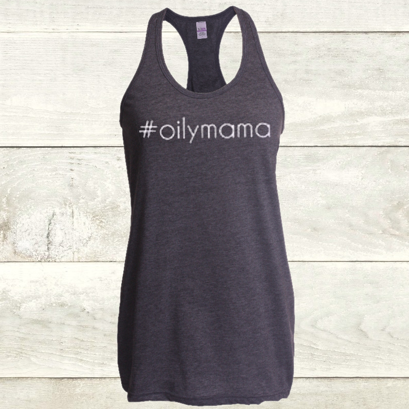 Elevate Heather Charcoal Racerback Oilymama Tank