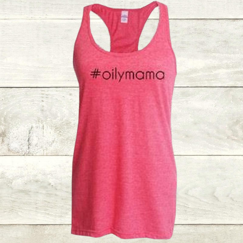 Elevate Heather Fuschia Racerback Oilymama Tank