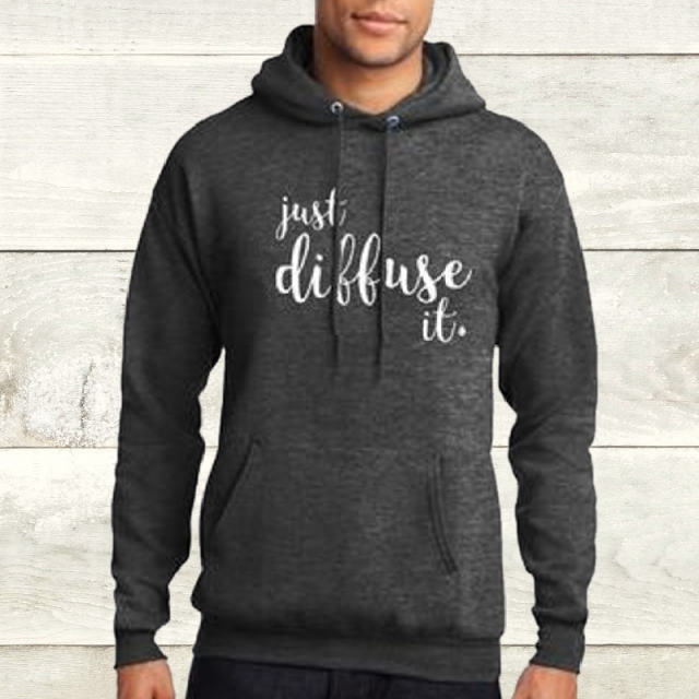 Elevate Dark Heather Diffuse It Hoodie