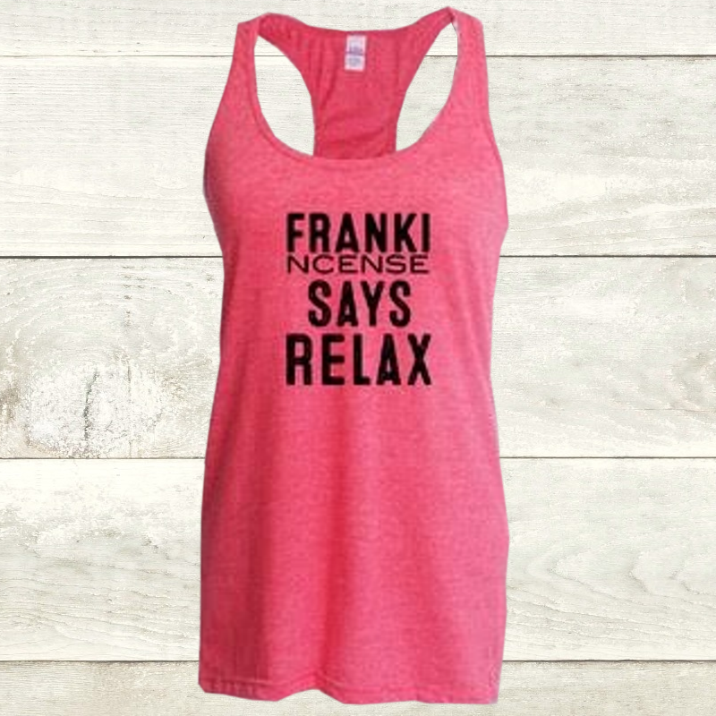 Elevate Heather Fuschia Racerback Frankincense Tank
